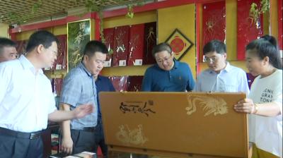 通化市委常委、宣传部长蔡红星来集巡河并调研重点项目