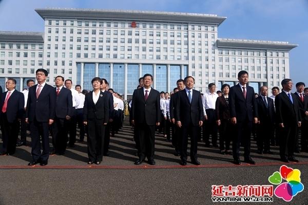 州暨延吉市举行庆祝新中国成立70周年升国旗仪式