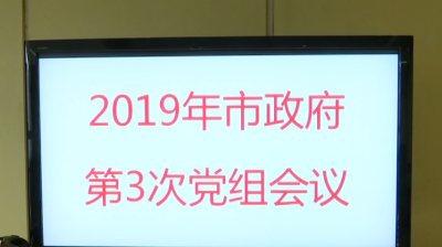 2019年集安市政府第3次党组会议