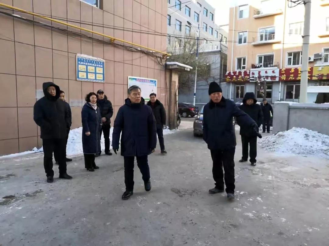 前郭县委副书记、县长卓日格检查城区清雪除冰工作