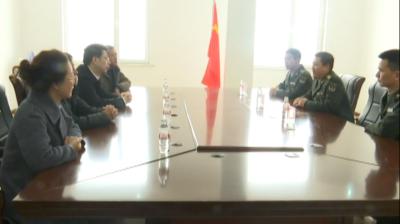 通化市委常委、统战部长单魁贤慰问驻集安部队官兵