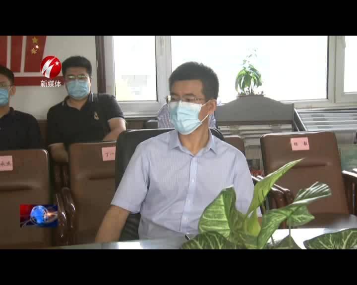 """胡斌走访慰问""""抗疫""""一线医生杨艳丽"""