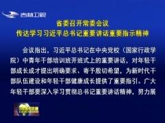 省委召开常委会议 传达学习习近平总书记重要讲话重要指示精神