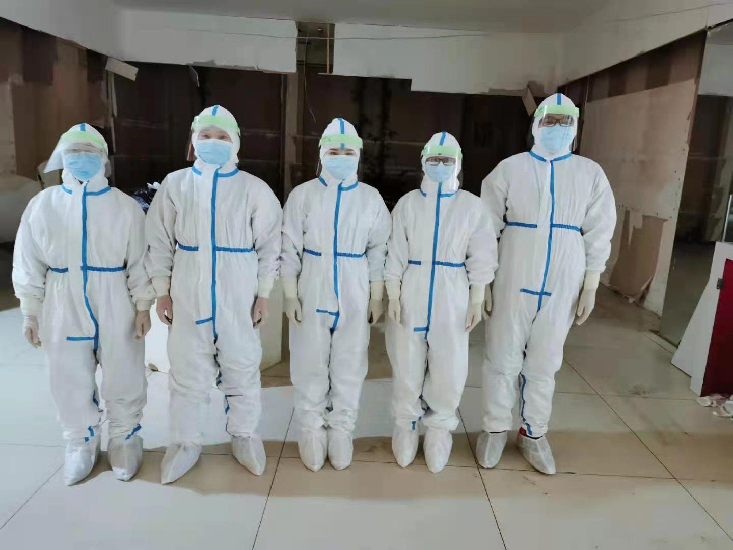 致敬!乾安县护士支援前郭县全员核酸检测