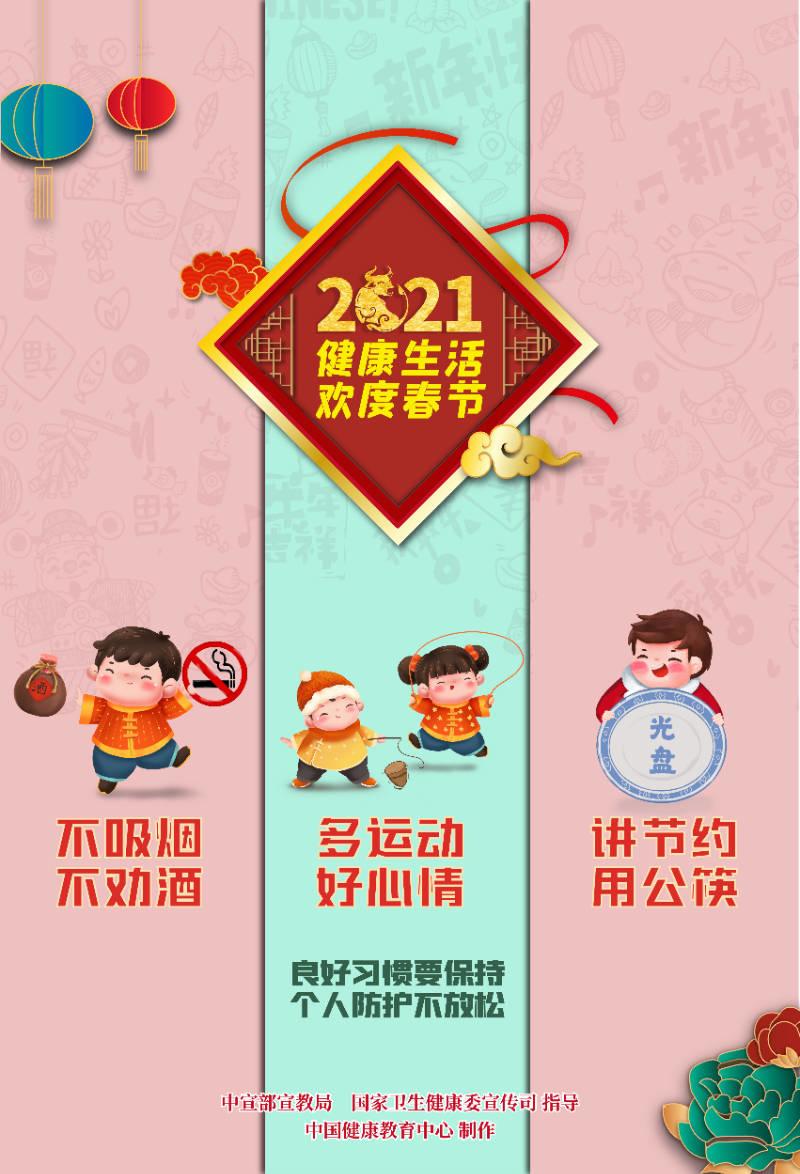 健康生活欢度春节海报(年娃)4