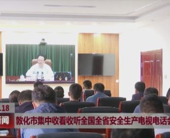 敦化市集中收看收听全国全省安全生产电视电话会议