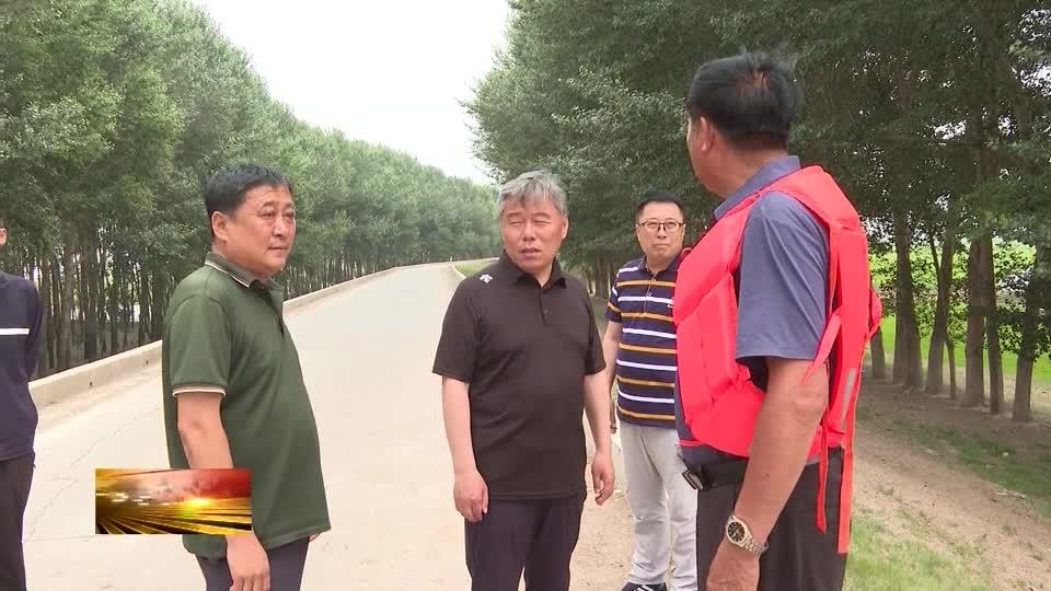 县委副书记、县长卓日格到八郎镇、库里渔场巡查国堤