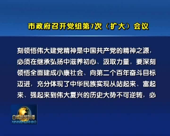 市政府召开党组第7次(扩大)会议