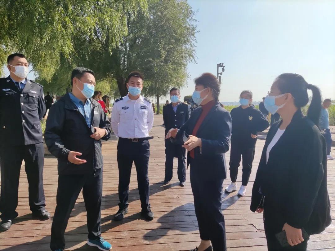 前郭县领导督导检查查干湖景区疫情防控和安全生产工作