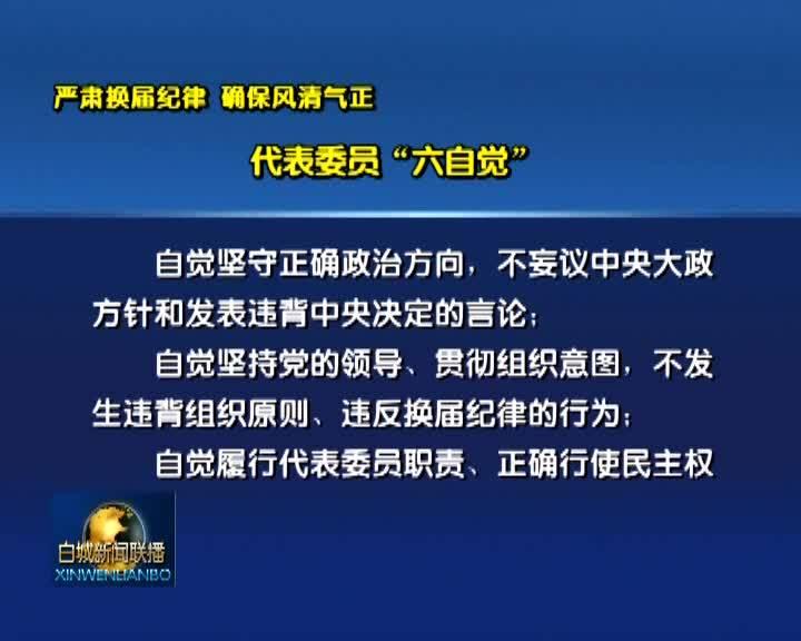 """严肃换届纪律 确保风清气正 代表委员""""六自觉"""""""