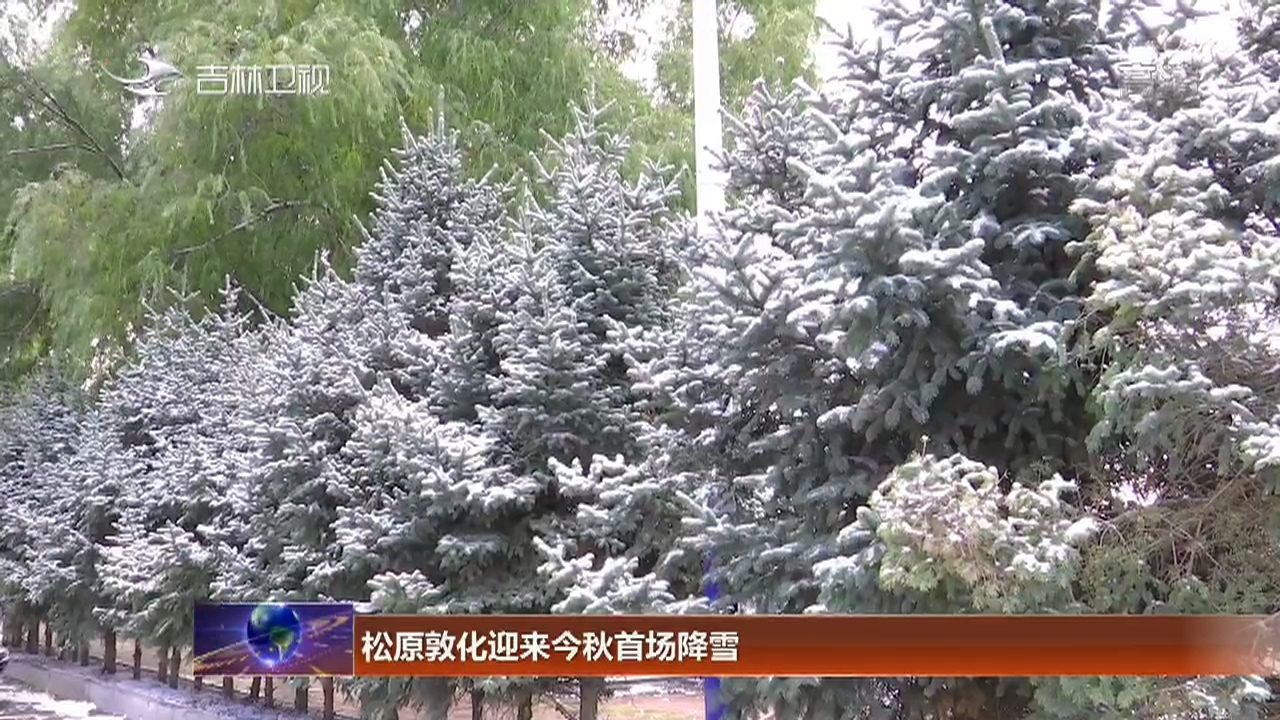 松原敦化迎来今秋首场降雪