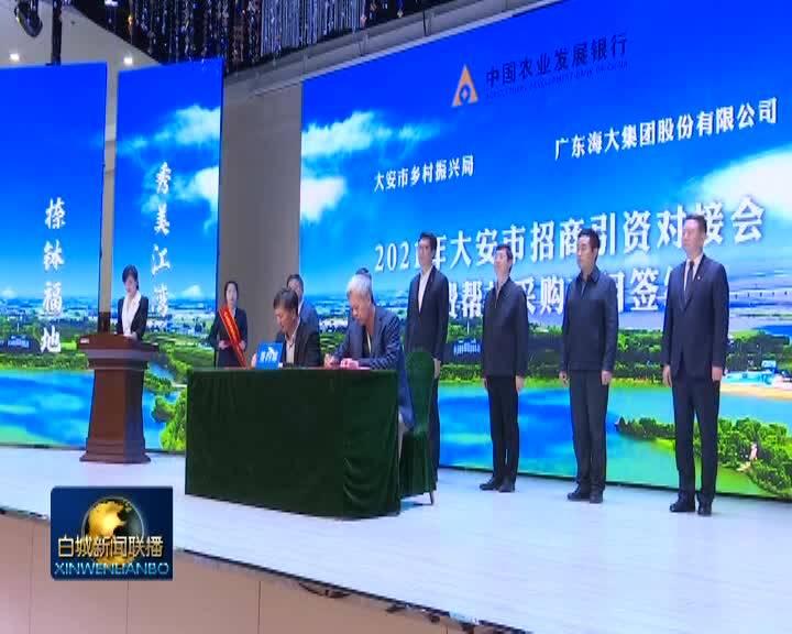 农发行吉林分行2021年大安市招商引资对接会召开