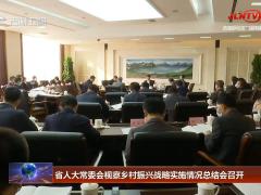 省人大常委会视察乡村振兴战略实施情况总结会召开