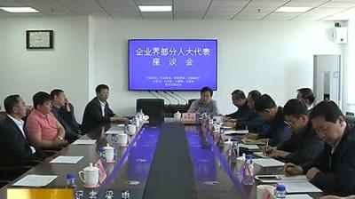 市人大常委会组织企业界部分人大代表召开座谈会