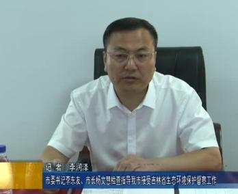 市委书记李东友、市长杨文慧检查指导我市接受吉林省生态环境保护督察工作
